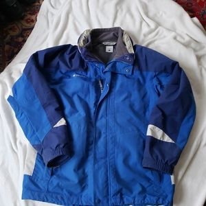 Columbia Interchange mens winter coat blue size L